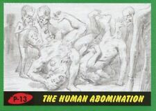 Mars Attacks The Revenge Green Pencil Art Base Card P-13 The Human Abomination