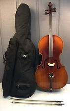"""KAY MODEL 60 49"""" FULL SIZE CELLO WITH GIG BAG AND 2 BOWS 6109"""