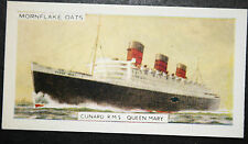 RMS QUEEN MARY   Cunard Liner & Troopship   Vintage Colour Card  # VGC