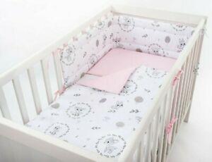 PINK BABY DEER NURSERY BABY BEDDING SET +MORE UNIQUE DESIGNS- FIT COT OR COT BED