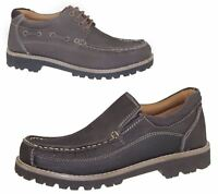 Mens Lace Up Casual Shoes Slip On Deck Loafers Walking Comfort Driving Boots