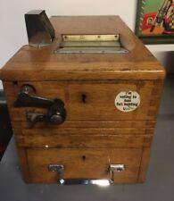 Automobilia / Vintage Wooden Garage Shop Till/Cash Box - by Gledhill of Halifax