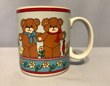 Lucy Me Rigg Bears Orange Flowers Bow Cup Mug S14 1985