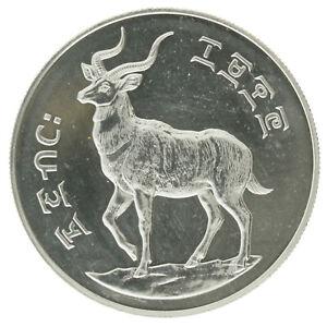 Ethiopia - Silver 25 Birr Coin - 'Mountain Nyala' - 1970 - UNC