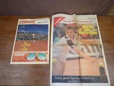 Journal L'EQUIPE Special Tennis ROLAND GARROS 1985 No Hors Serie + 1987