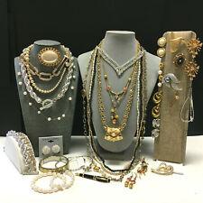 Vintage COSTUME JEWELRY LOT Designer Signed Necklace Brooch Clip Earrings V23ZU