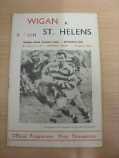 12/04/1961 Rugby League Programme: Wigan v St Helens  . Thanks for taking the ti