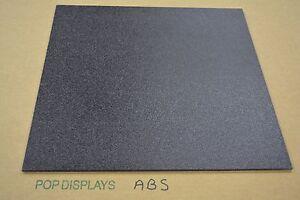 "Abs Plastic Black Sheet  1/8"" x 8"" x 12""  Vacuum Forming"