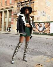 Paris Texas Snakeskin Over the Knee Boots, Sz 8 (EU 38) SOLD OUT