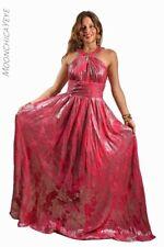 Vintage Pink Silver Dress Long Princess Cocktail Long Size S/ M Dancer Sexy