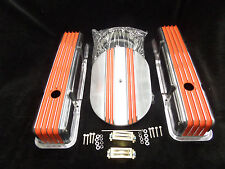 S B CHEVY TALL ORANGE  FIN VALVE COVER /CENTER FIN BREATHER KIT CR# X077