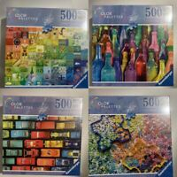 4 x 500 Piece Color Palettes 500 Jigsaw Puzzle Colorful New