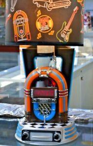 Retro Jukebox Lamp With   Clock   Radio iPod Dock Station & Neon Lights Works!!
