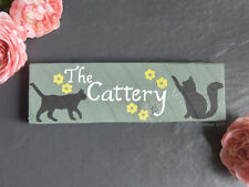 Cat Memorial Wooden Sign Plaque Remembrance Personalised In Loving Memory Grave