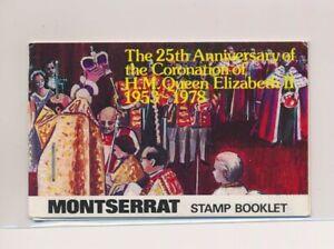 LO37874 Montserrat 1978 silver jubilee Elizabeth II good booklet MNH