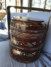 Antique Chinese Stacked Wedding Basket