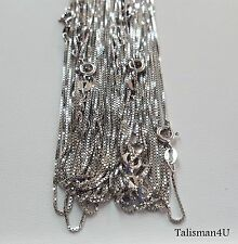 "10pcs 18"" Box Chain Necklace Real 925 Sterling Silver Italy Top Quality Lot 1mm"
