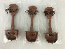 Kelloggs Cereal Premium Treasure Island BEN Shovel Spoon Lot of 3 - 2002 New