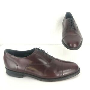 Florsheim Imperial Men's Size 10D Oxblood Leather Cap Toe Oxford Dress Shoes