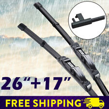 "26""+17"" Car Front Window Frameless Wiper Blades Fit BMW M6 Ford Focus 2005-2011"