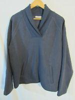 Orvis Men's Cozy Shawl Collar Pullover Size L Blue-Gray