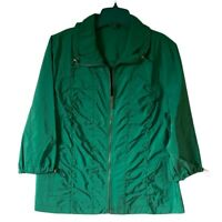 Zenergy By Chicos Womens Jacket Green Zip Up Pockets Drawstring L/12 NWOTs