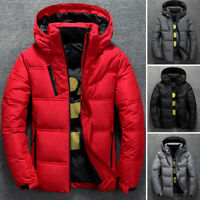 Men's Winter Ultralight Duck Down Jacket Thicken Hooded Puffer Warm Outwear Coat