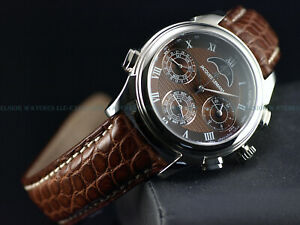 Jacques Lemans 42mm LE Minute Repeater Chrono MoonPhase Sapphire Alligator Watch