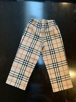Burberry Boys Girls Unisex Wool Mix Nova Check Trousers Pants 3Y 3A