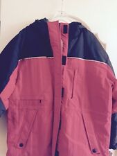 NWT, Mens Large Field Gear Winter Jacket Full Zip Red/Black
