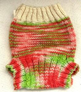Diaper Cover WOOL baby infant cloth nappy soaker overpants knitted