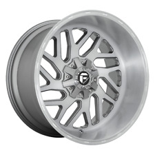 4-pcFuel TRITON PLATINUM Brushed Gun Metal Tinted 26x12 Chevy/GM Rims8x180  -44