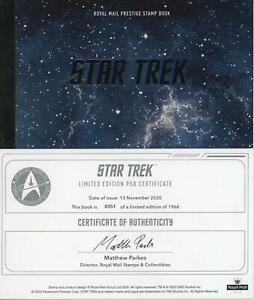 GB 2020 Star Trek TV Series Ltd Edition Prestige Booklet (worth £75) with 3D COA