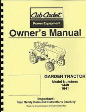 Cub Cadet1440/1641 Owner's Manual