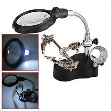 12 LED Loupe 3.5X Support Pince Troisième Main Bras Soudage Souder Electronique