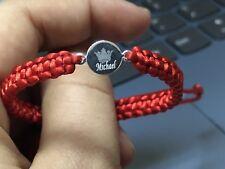 Personalised Name Engraved 925 St Silver Handmade Bracelet Kids Woman Man ❤