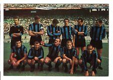 cartolina postcard - FORMAZIONE INTER ADF 1968