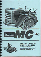 """Ransomes """"MG 40"""" Crawler Tractor Instruction Book"""