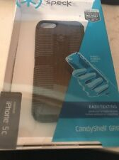 Speck CandyShell Grip Case for iPhone 5c  Black Grey <0973>