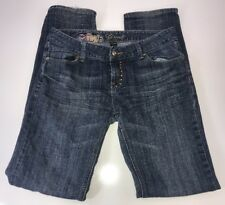 G-Unit Dark Wash Straight Legged Low Rise Sequin Size 7 Jeans actual 31x33