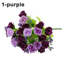 21 Head Artificial Silk Rose Flower Art Wedding Party Decor Room Bridal Bouquet