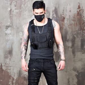 NewStylish Mens Fashion Techwear black vest