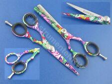 Profi Friseurscheren Set Flower Haarschere mit Effilierschere 5,5 Zoll