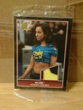 WWE DIVA A.J. AJ LEE 2013 TOPPS BEST OF WWE AUTHENTIC SHIRT RELIC CARD 3 COLORS!