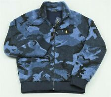 Polo Ralph Lauren Sherpa Camo Jacket Full Zip Blue Camouflage XL NWT $188
