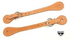 Stitched Spur Straps Heavy Double Thick Russet Harness Leather New Ozark
