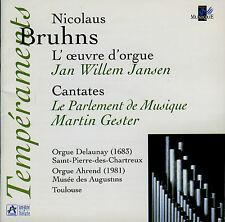BRUHNS  l'oeuvre d'orgue, cantates  J.W. JANSEN - PARLEMENT DE MUSIQUE , GESTER