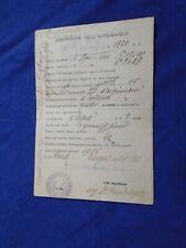 WW1 Libretto autocarro  SPA 6000  anno 1915