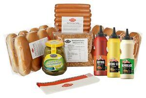 """HOT DOG WORLD - BEEF Hot Dog Party-Paket """"dänische Art"""" 12 Stück"""
