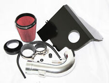 """fit 11-14 Ford Mustang GT/Boss 5.0L V8 3.5"""" RED Cold Air Intake Kit+Heat Shield"""